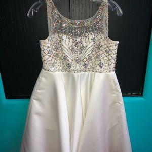 A white social dress